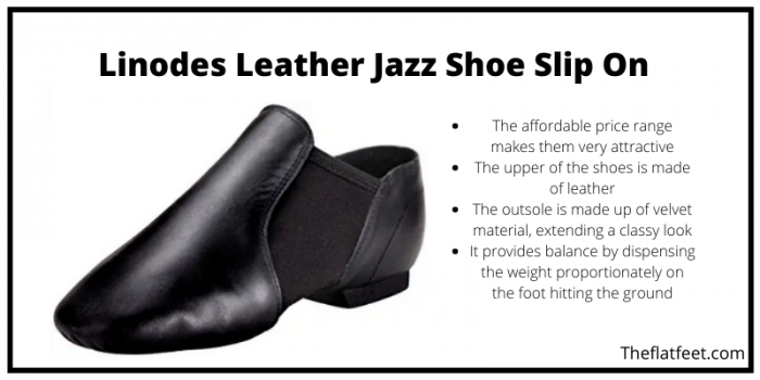 Linodes Jazz Dance Leather Shoes